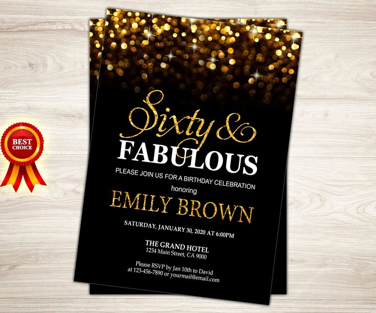 60th Birthday Invite Templates Inspirational Surprise 60th Birthday Party Invitations Party – Free