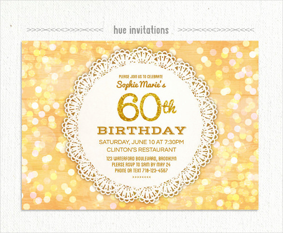 60th Birthday Invite Templates Lovely 26 60th Birthday Invitation Templates – Psd Ai