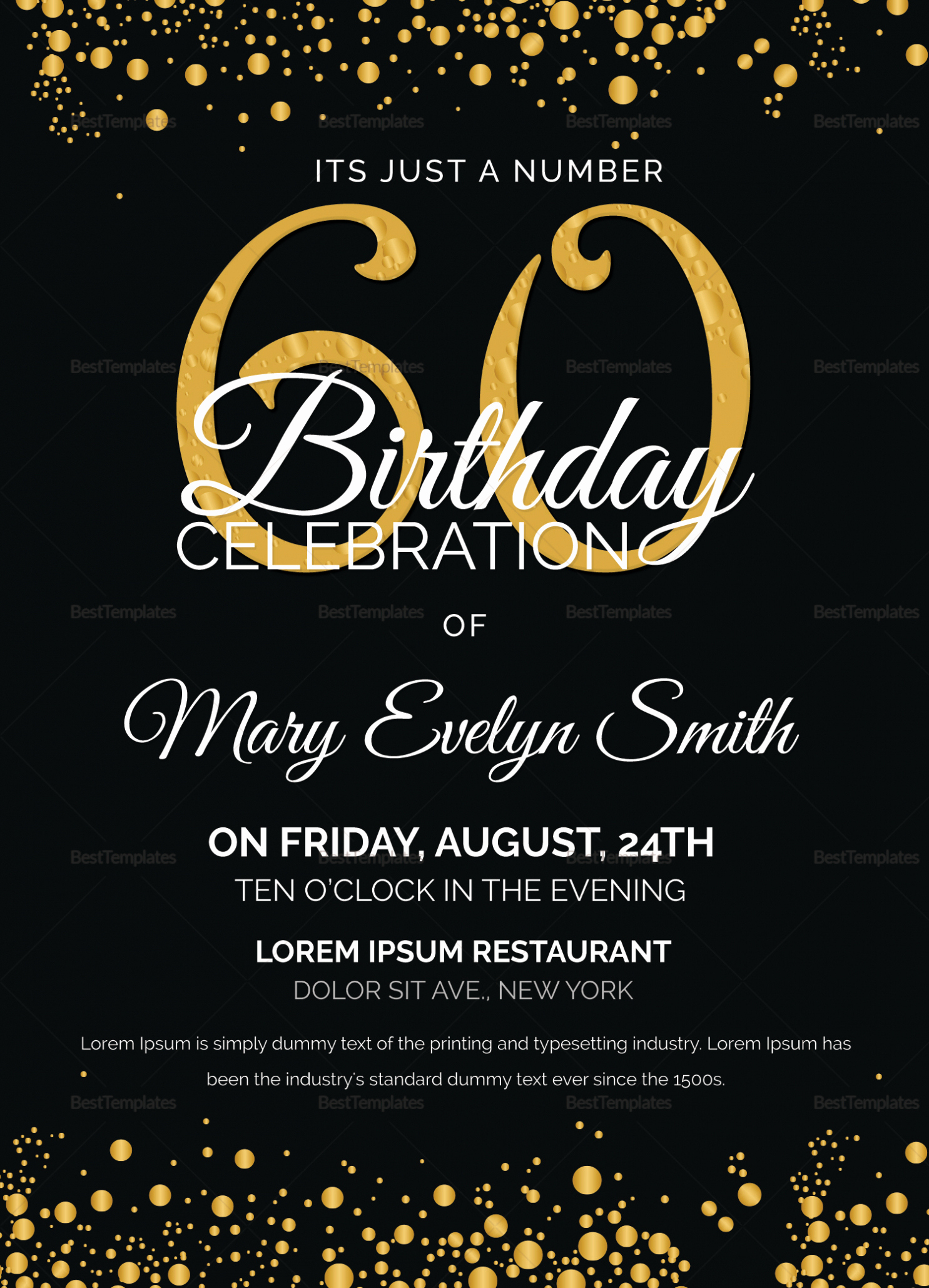 60th Birthday Invite Templates Lovely Tips Special 60th Birthday Invitations for Your Special