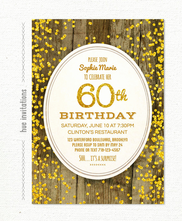 60th Birthday Invite Templates Luxury 28 60th Birthday Invitation Templates Psd Vector Eps