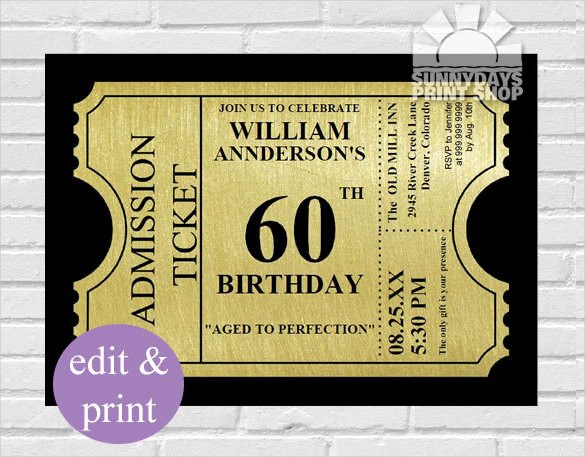 60th Birthday Invite Templates New 60th Birthday Invitation Templates Free Printable – Best