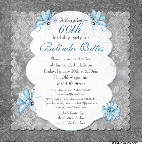60th Birthday Invite Templates New Free Printable 60th Surprise Birthday Party Invitations