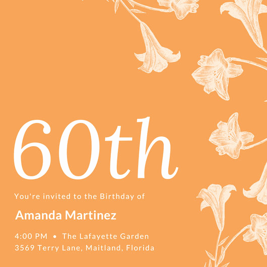 60th Birthday Invite Templates New Vintage Invitation Templates Canva