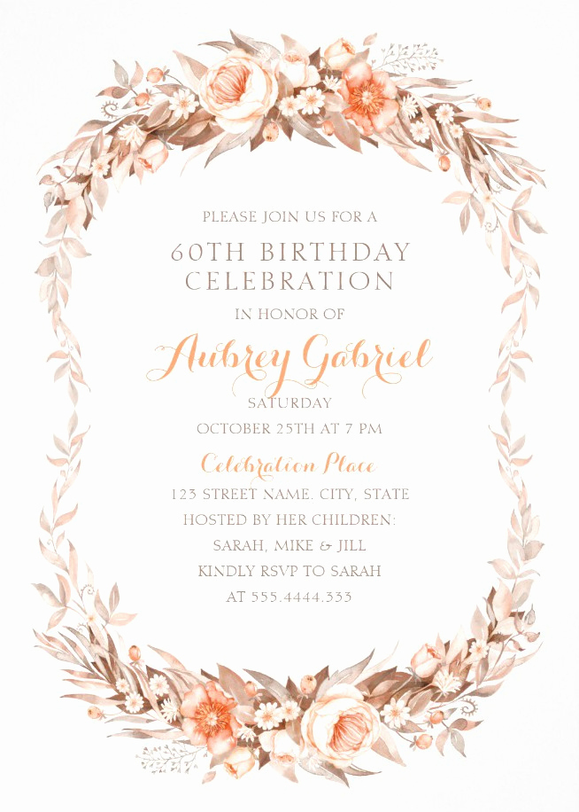 60th Birthday Invite Templates Unique Luxury 60th Birthday Invitations Archives Superdazzle