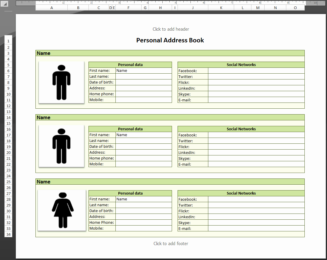 Address Book Template Excel Fresh Address List Template Example Mughals