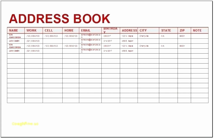 Address Book Template Excel Unique Excel Spreadsheet Address Book Template Templates Station
