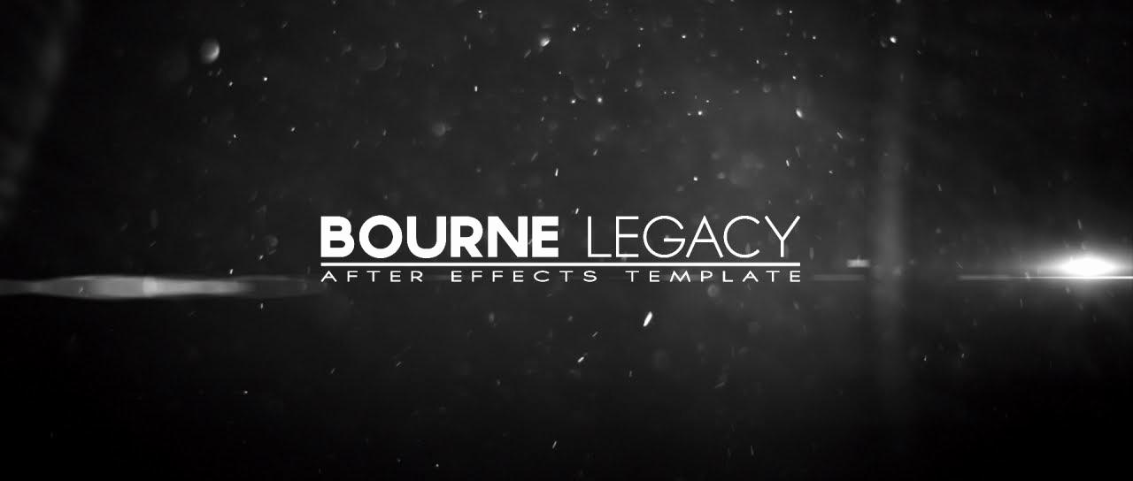 Adobe after Effect Template Free New Bourne Legacy Title after Effects Template
