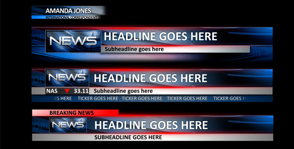 After Effect Lower Third Templates Best Of News Lower Thirds News after Effects Templates