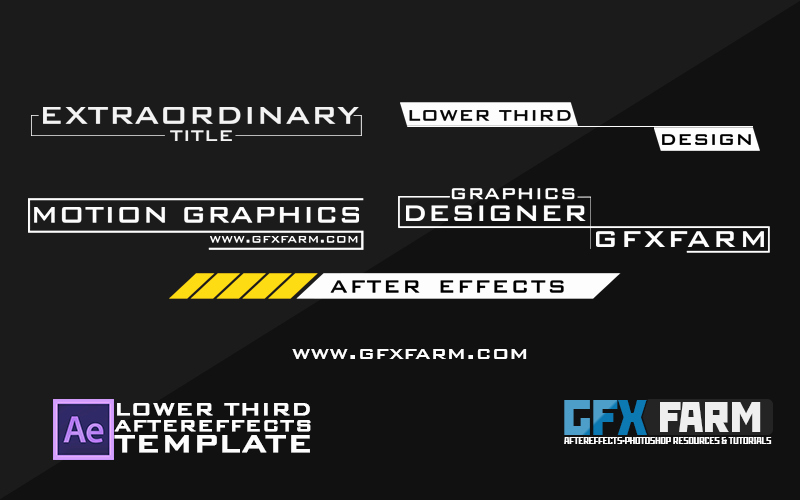 After Effect Lower Third Templates Elegant Lower Third Pack after Effects Template Gfxfarm