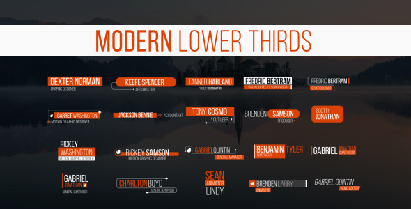 After Effect Lower Third Templates Fresh Videohive Lower Thirds Free after Effects