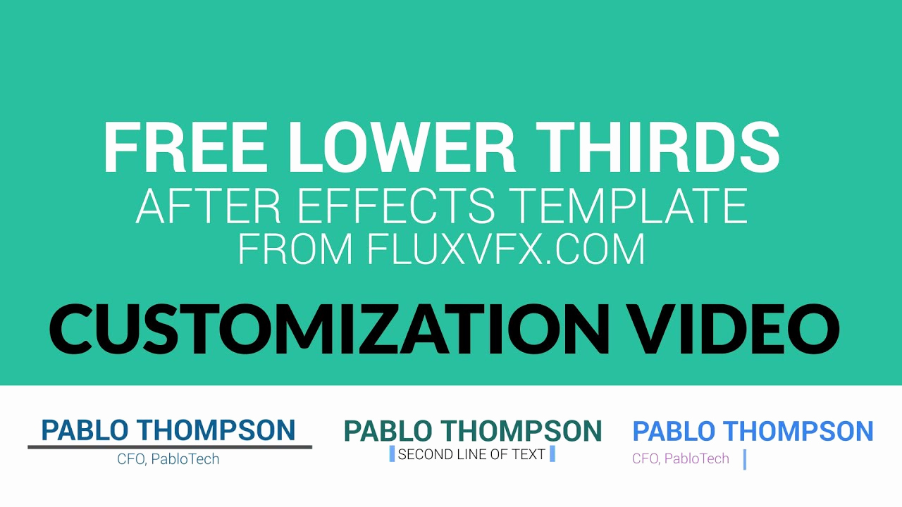 After Effect Lower Third Templates Inspirational Free after Effects Template Lower Thirds Pack