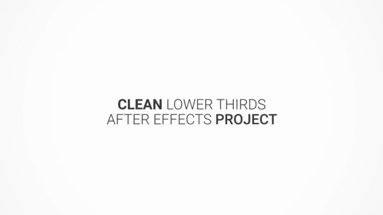 After Effect Lower Third Templates New Clean Lower Thirds after Effects Templates