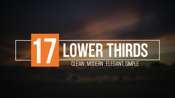 After Effect Lower Third Templates New Lower Thirds Corporate Envato Videohive – after