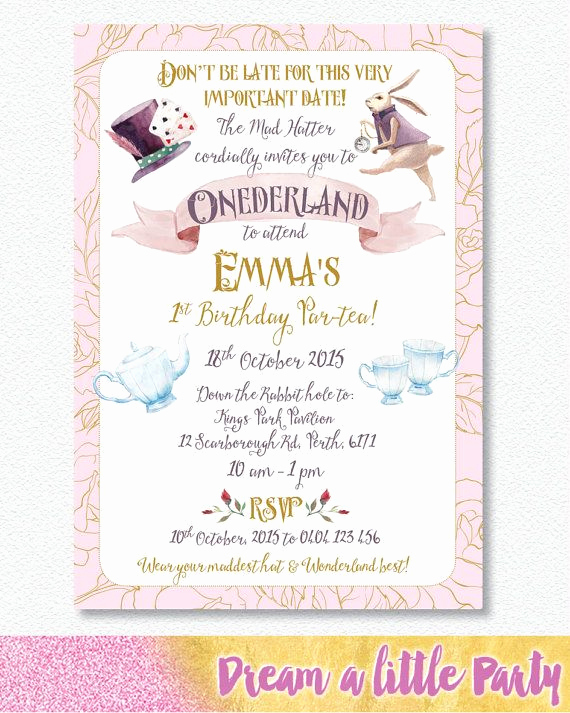 Alice In Wonderland Invitations Templates Awesome Best 25 Alice In Wonderland Invitations Ideas On