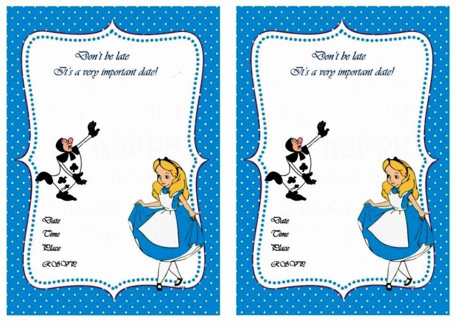 Alice In Wonderland Invitations Templates Beautiful Alice In Wonderland Invitations Template