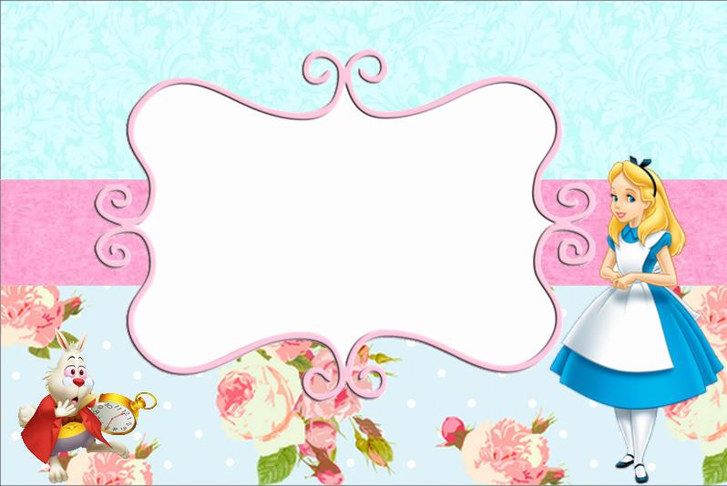 Alice In Wonderland Invitations Templates Beautiful Free Printable Alice In Wonderland Birthday Invitations