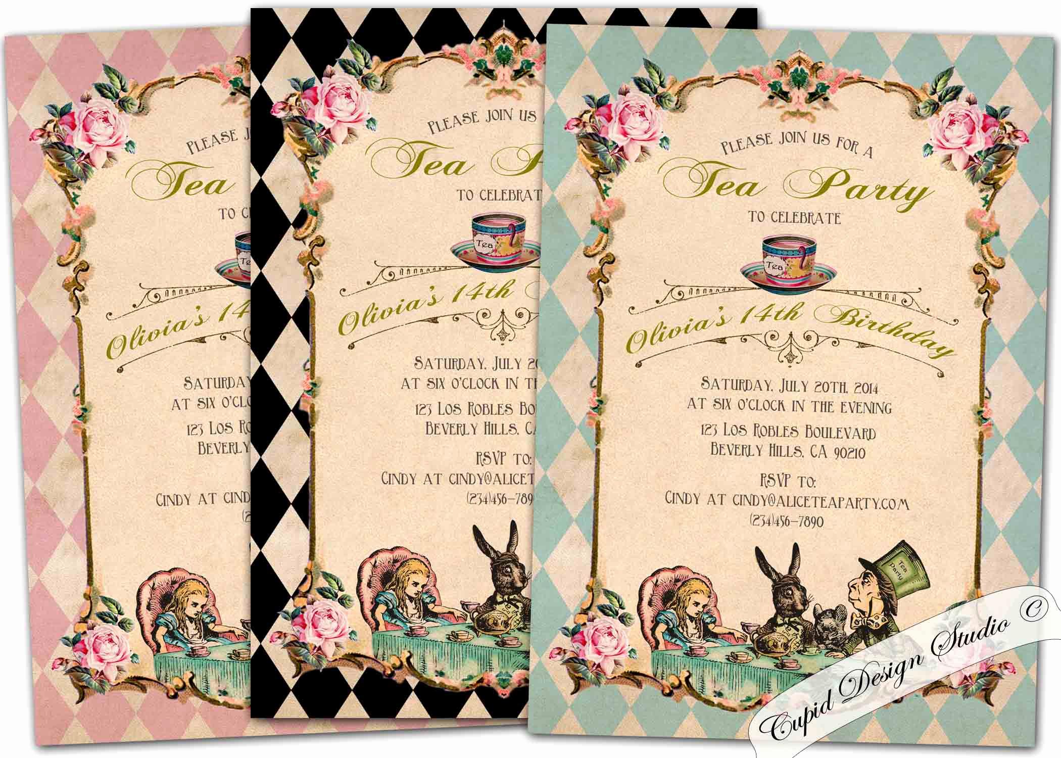 Alice In Wonderland Invitations Templates Best Of Alice In Wonderland Party Invitations Alice In Wonderland