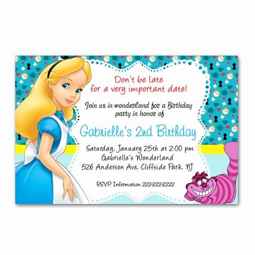 Alice In Wonderland Invitations Templates Fresh Alice In Wonderland Party Invitations Alice In Wonderland