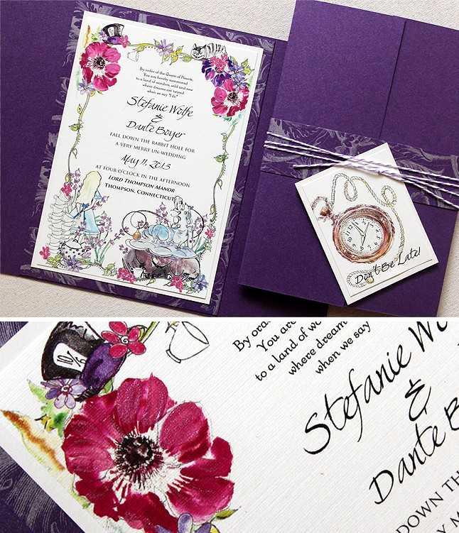 Alice In Wonderland Invitations Templates Lovely Alice In Wonderland Wedding Invitation Template Unique