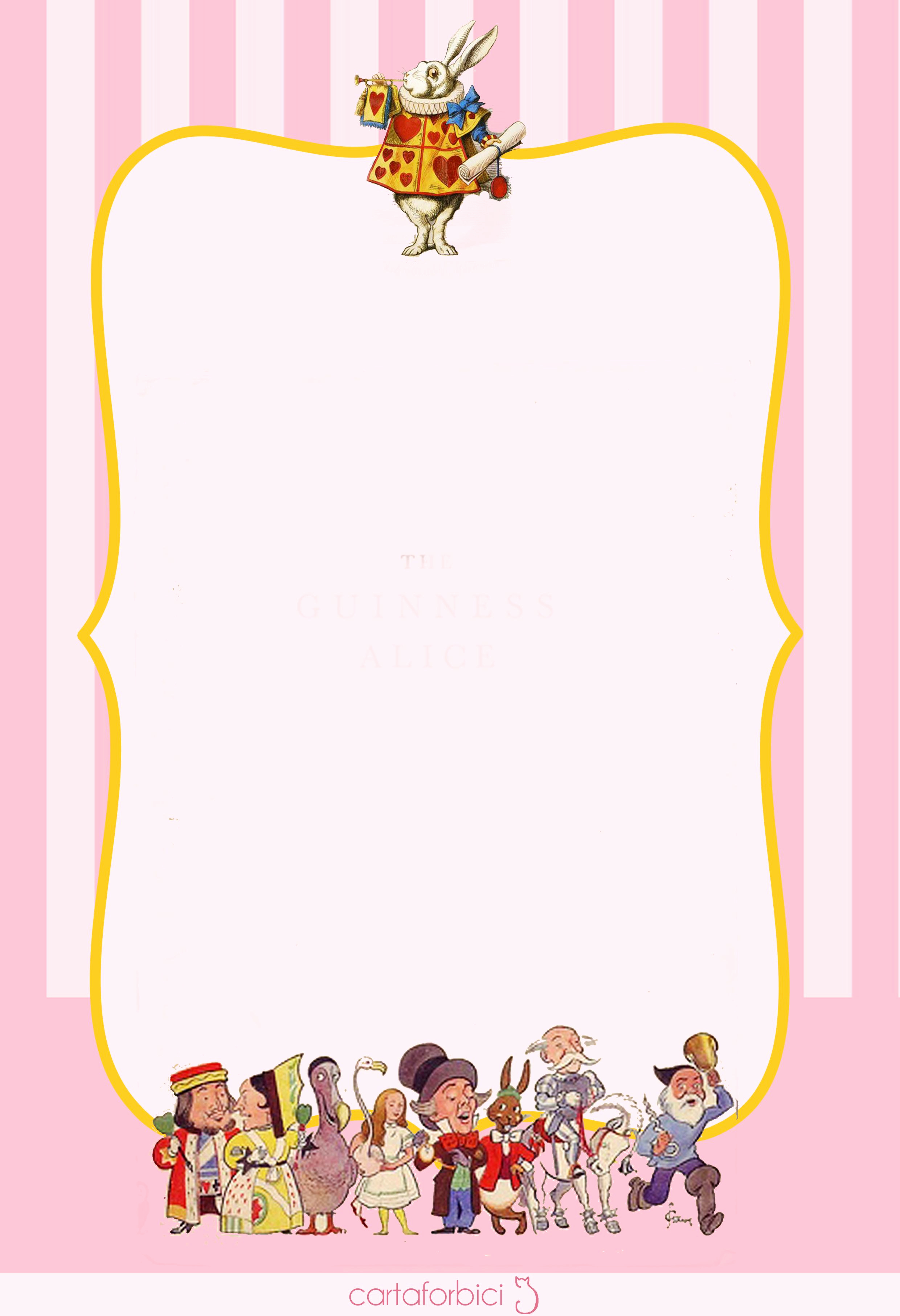"Alice In Wonderland Invitations Templates New ""a Wonderland Birthday"" Printables 2"