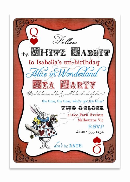 Alice In Wonderland Invitations Templates New Alice In Wonderland Template Wildlifetrackingsouthwest