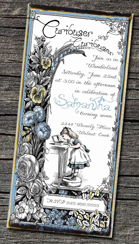 Alice In Wonderland Invitations Templates New Brag Monday Bird Tray & Alice In Wonderland Invites