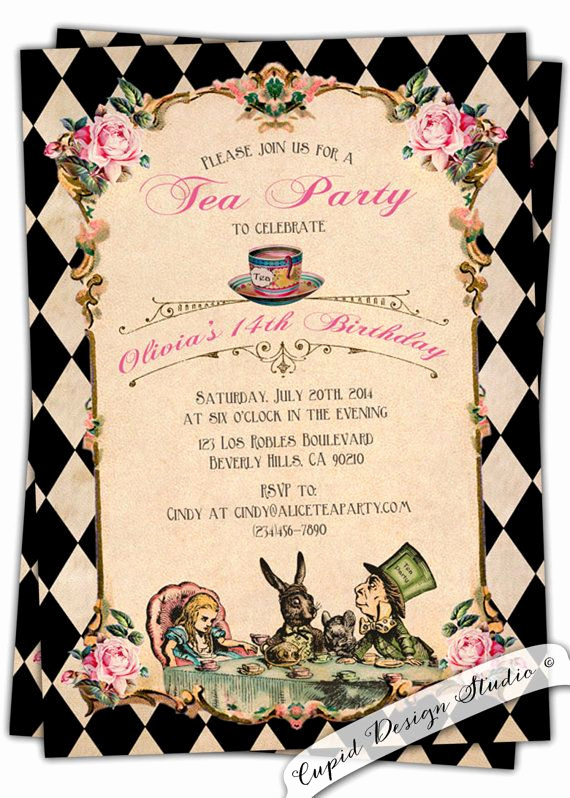 Alice In Wonderland Invitations Templates Unique Best 25 Alice In Wonderland Invitations Ideas On