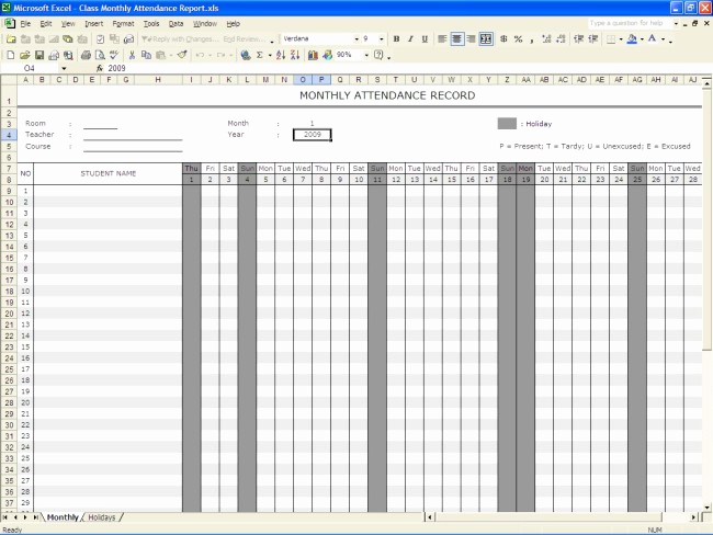 Attendance Sheet Template Excel Elegant 36 General attendance Sheet Templates In Excel Thogati
