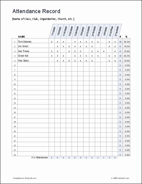Attendance Sheet Template Excel Elegant Free Excel attendance Record attendance Sheet It is Easy