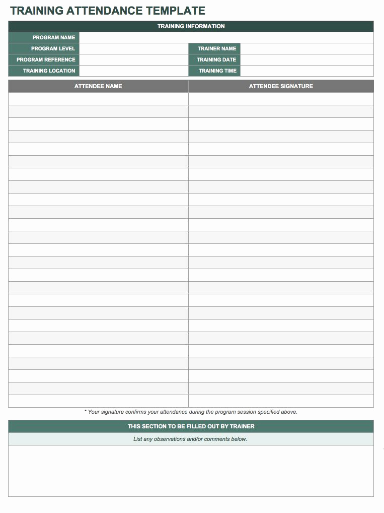 Attendance Sheet Template Excel Fresh Free attendance Spreadsheets and Templates