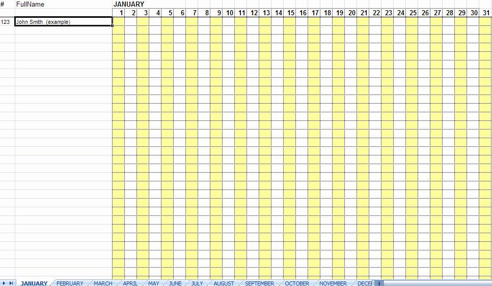Attendance Sheet Template Excel Lovely 36 General attendance Sheet Templates In Excel Thogati