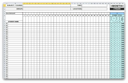 Attendance Sheet Template Excel Luxury 46 Best attendance Sheet Template Examples for Classroom