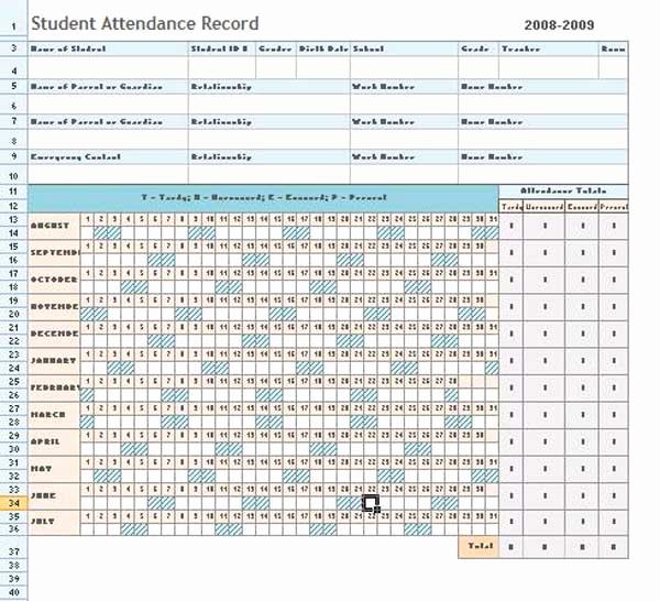 Attendance Sheet Template Excel New attendance Sheet Excel Template Microsoft Word Templates