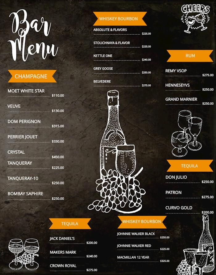 Bar Menu Template Free Beautiful 23 Printable Premium and Free Drink Menu Templates