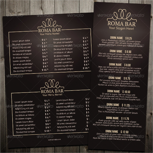 Bar Menu Template Free Beautiful Bar Menu Templates – 35 Free Psd Eps Documents Download