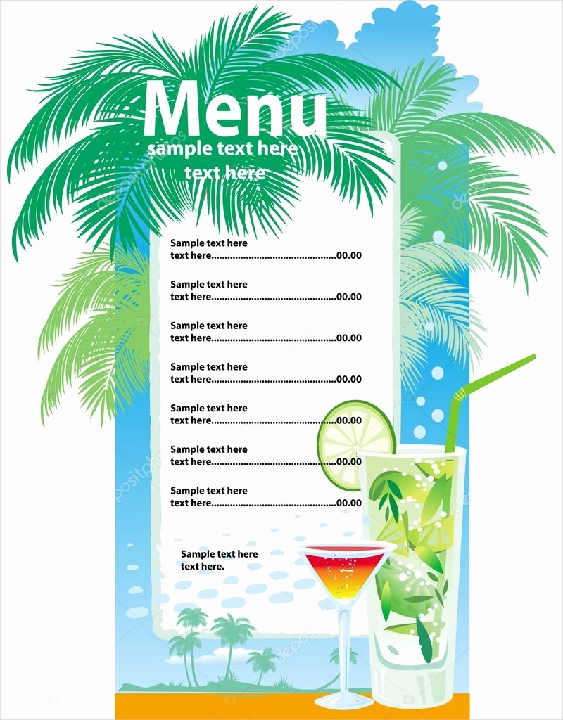 Bar Menu Template Free Fresh 10 Examples Of Drink Menu Editable Psd Ai Png format