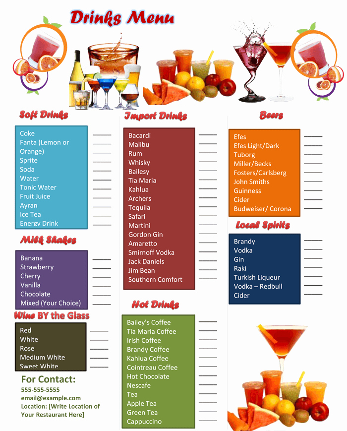 Bar Menu Template Free Fresh 5 attractive Drink Menu Templates for Your Bar Business
