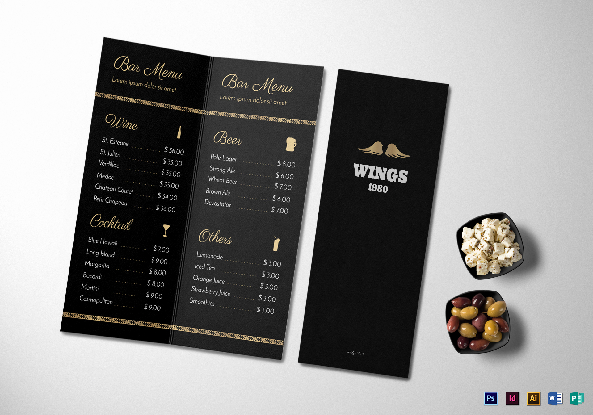 Bar Menu Template Free Inspirational Bar Menu Design Template In Psd Word Publisher