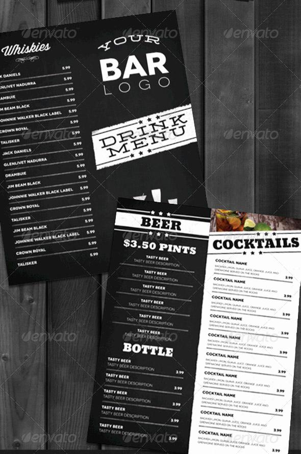 Bar Menu Template Free New 13 Bar Menu Template Bar Menu Templates Free Bar