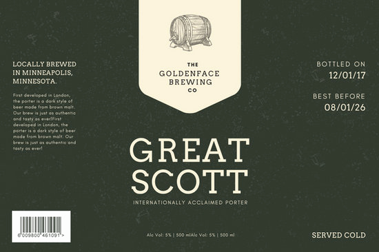 Beer Label Design Template Awesome Customize 82 Beer Label Templates Online Canva