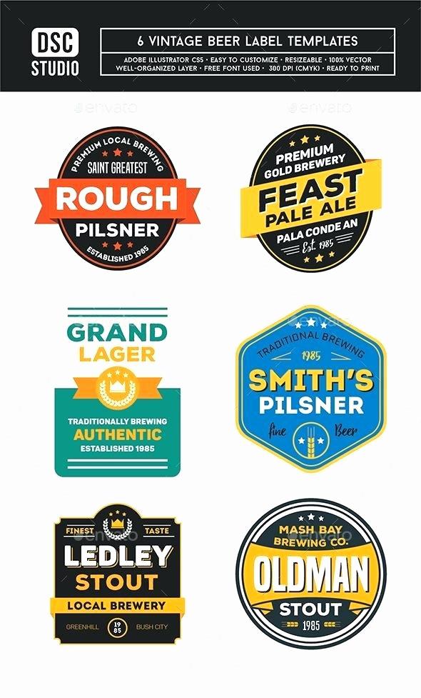 Beer Label Design Template Beautiful Beer Label Design Template Elegant Beer Label Template