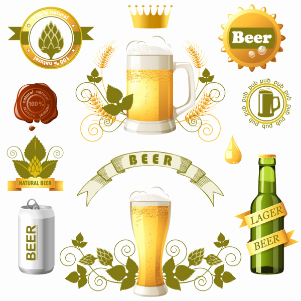 Beer Label Design Template Beautiful Beer Label Logo Design Templates Vector Logo Free Vector
