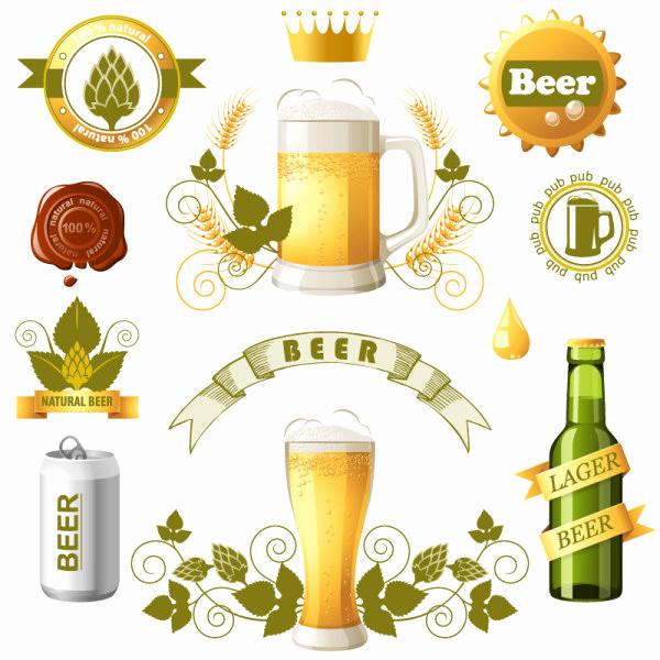 Beer Label Design Template Beautiful Beer Label Logo Design Templates Vector Logo Free Vector