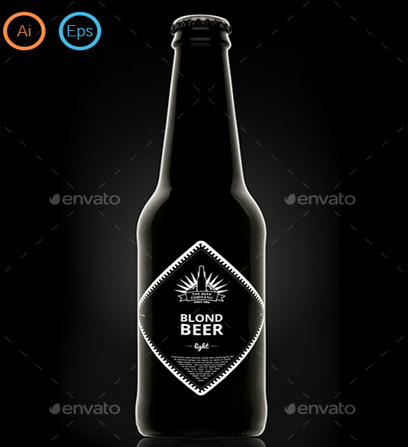 Beer Label Design Template Beautiful Beer Label Template 27 Free Eps Psd Ai Illustrator