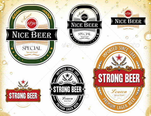 Beer Label Design Template Best Of 20 Beautiful Product Label Vector Templates Eps Ai
