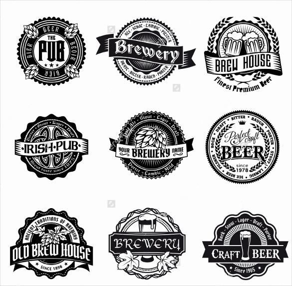 Beer Label Design Template Elegant Beer Label Template 27 Free Eps Psd Ai Illustrator