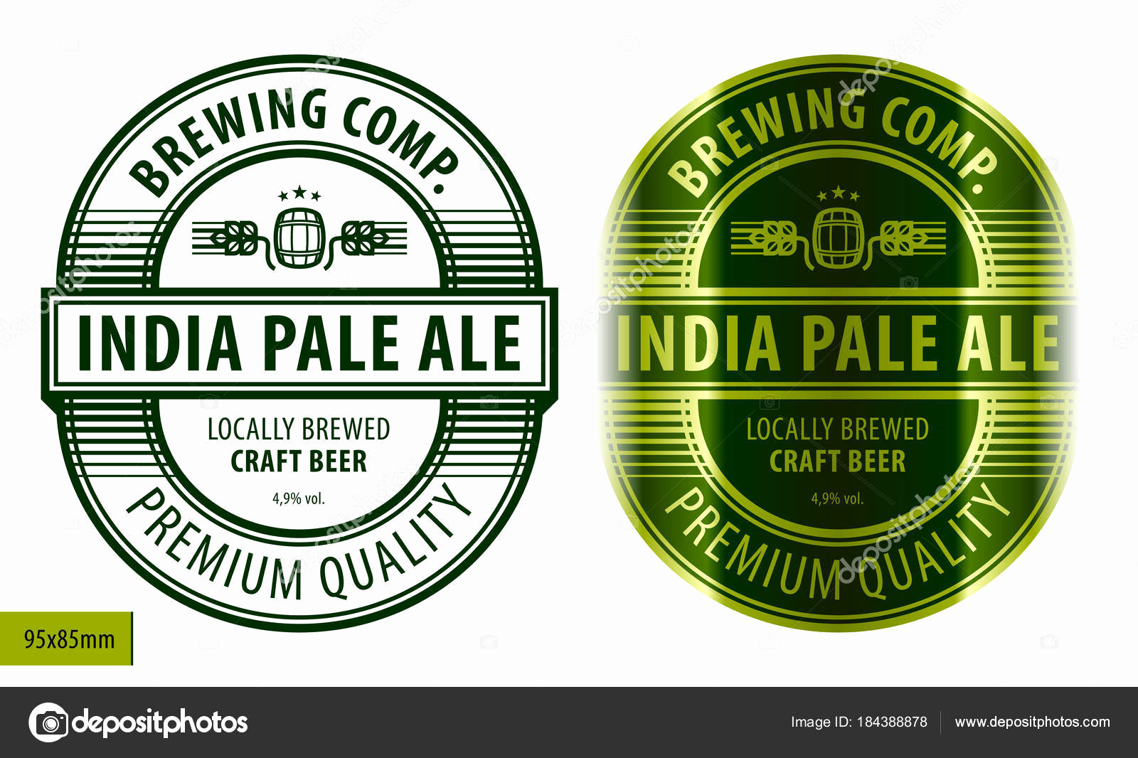 Beer Label Design Template Elegant Bier Etikett Vorlage — Stockvektor © Heizel