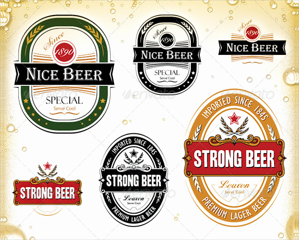 Beer Label Design Template Inspirational Printable Beer Label Template 195 Free & Premium Download