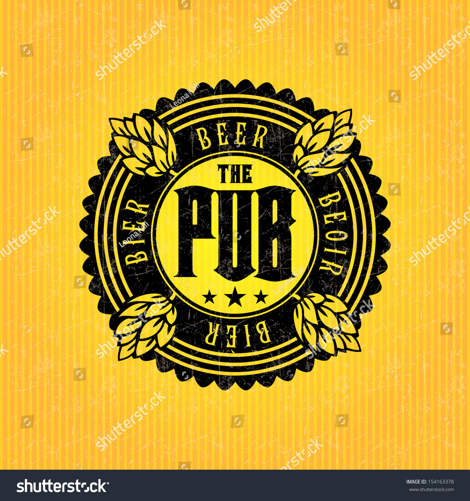 Beer Label Design Template Lovely Beer Label Design Template Stock Vector