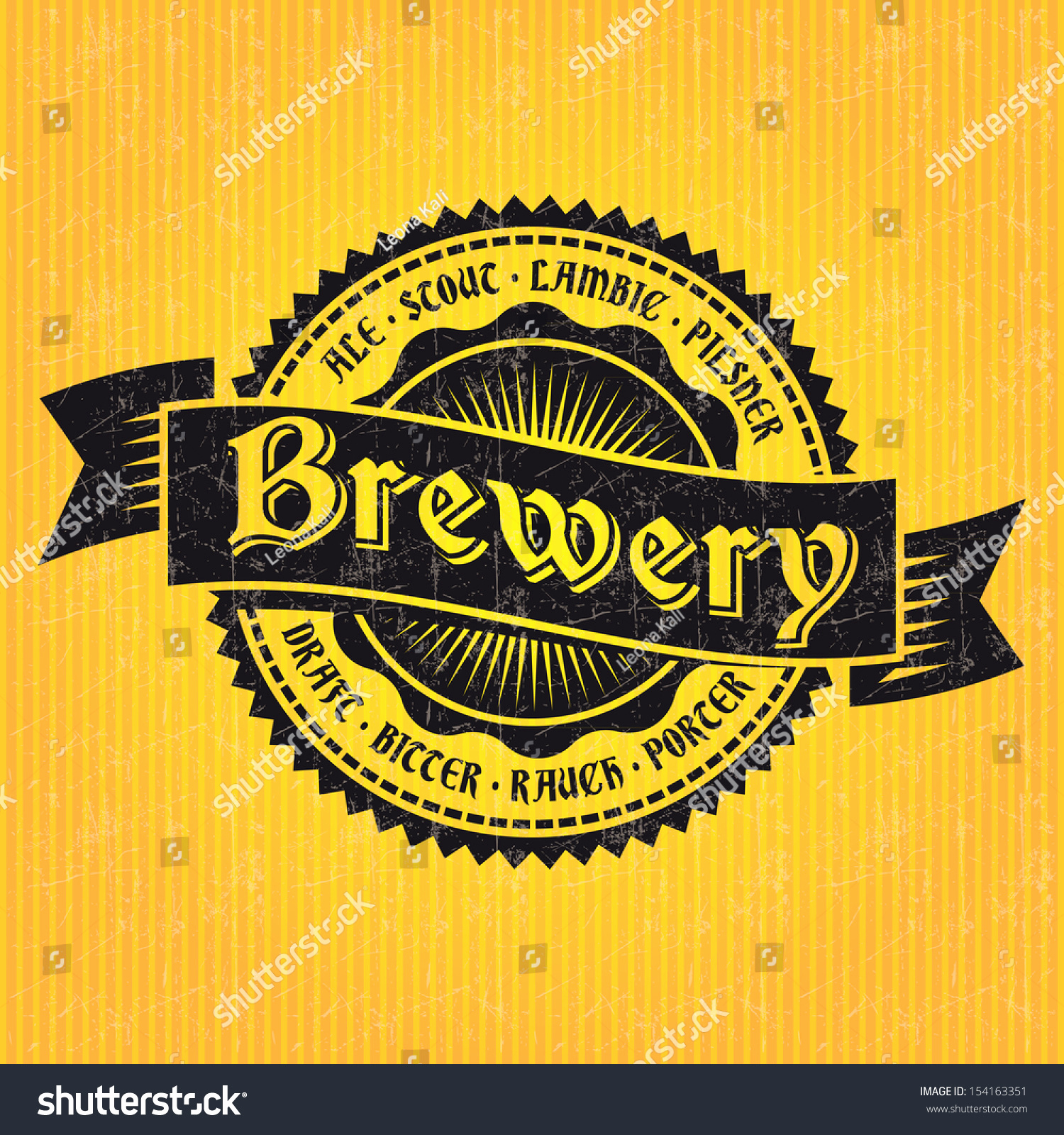 Beer Label Design Template Luxury Beer Label Design Template Stock Vector Illustration